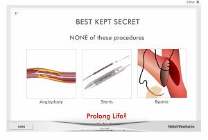 HeartVentures Animated Interface Regarding Coronary Repair Procedures