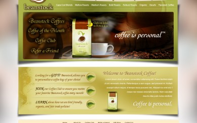 Beanstock Coffee - Online Shop - Home Page