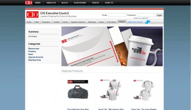 CIO Executive Council online store home page