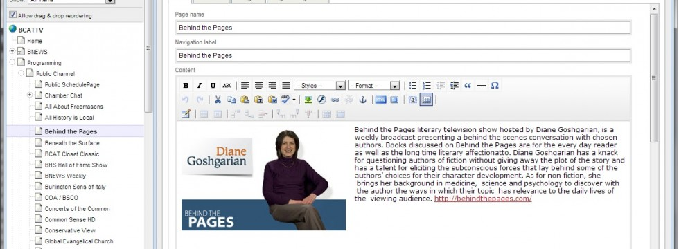 SilversStripe CMS Web Page Editor