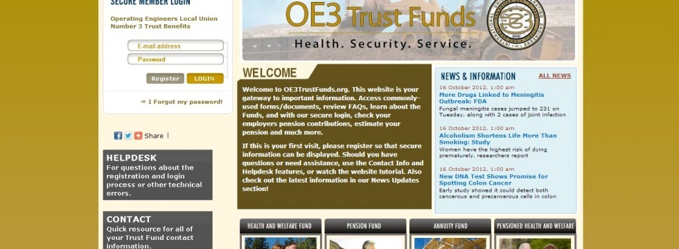 IUOE Local 3 Benefit Fund Home Page