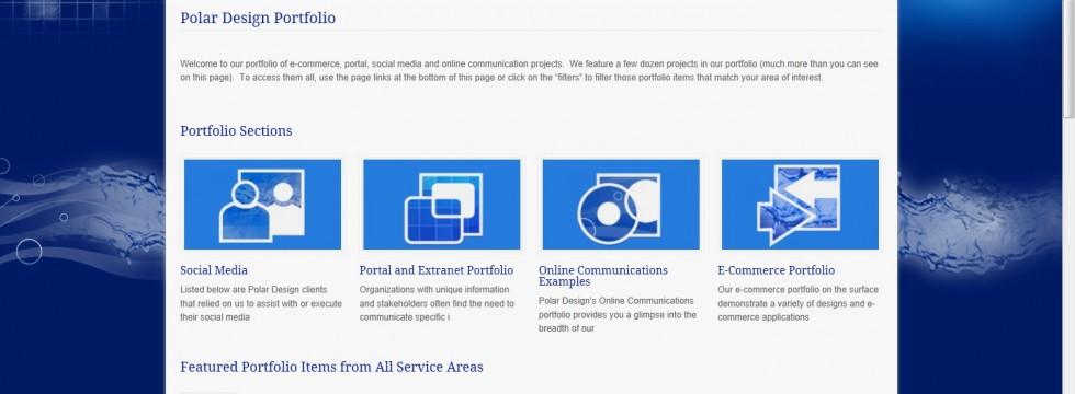Polar Design v. 4 web site portfolio