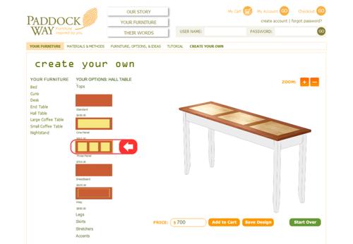 Paddock Way Furniture Configurator
